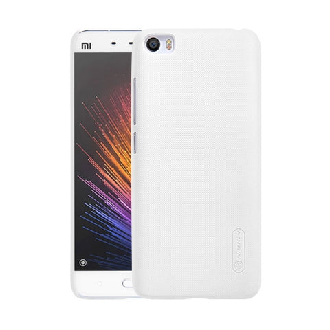 NILLKIN Frosted Shield Xiaomi Mi 5 Concave-convex Texture PC Protective Case Back Cover(White)