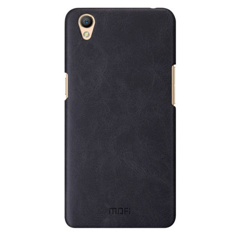 MOFI OPPO A37 Crazy Horse Texture Leather Surface PC Protective Case Back Cover(Black)