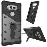 For LG V20 Shock-Resistant 360 Degree Spin Tough Armor TPU + PC Combination Case with Holder(Black)