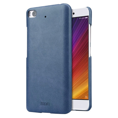 MOFI Xiaomi Mi 5s Crazy Horse Texture Leather Surface PC Protective Case Back Cover (Dark Blue)