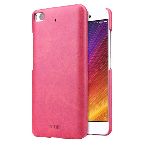MOFI Xiaomi Mi 5s Crazy Horse Texture Leather Surface PC Protective Case Back Cover (Magenta)