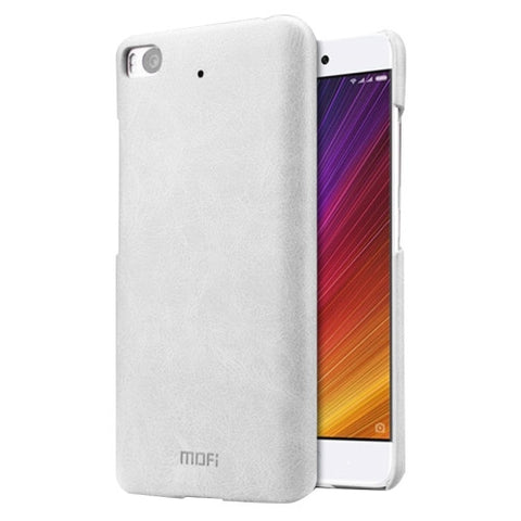 MOFI Xiaomi Mi 5s Crazy Horse Texture Leather Surface PC Protective Case Back Cover (White)