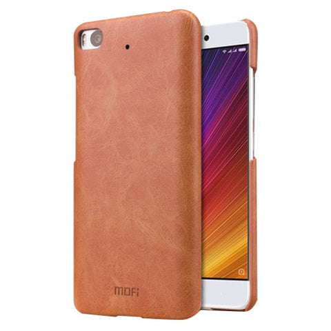 MOFI Xiaomi Mi 5s Crazy Horse Texture Leather Surface PC Protective Case Back Cover (Brown)