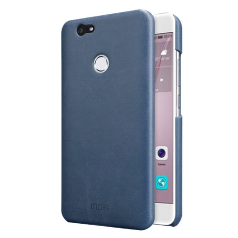 MOFI Huawei nova Crazy Horse Texture Leather Surface PC Protective Case Back Cover (Dark Blue)