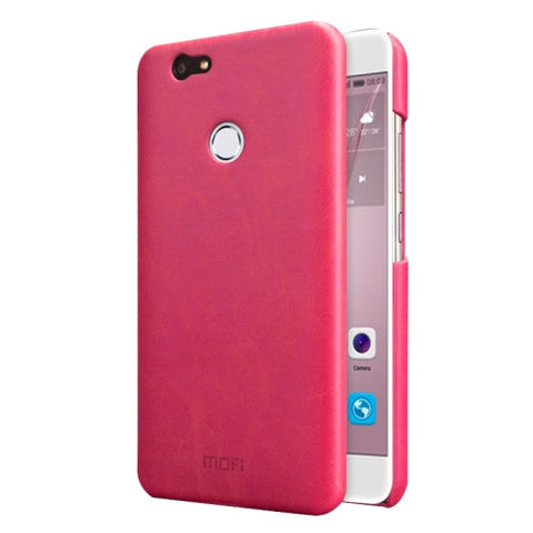 MOFI Huawei nova Crazy Horse Texture Leather Surface PC Protective Case Back Cover (Magenta)