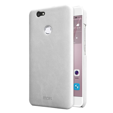 MOFI Huawei nova Crazy Horse Texture Leather Surface PC Protective Case Back Cover (White)