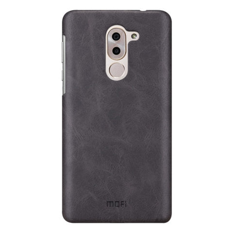 MOFI Huawei Honor 6X Crazy Horse Texture Leather Surface PC Protective Case Back Cover (Black)