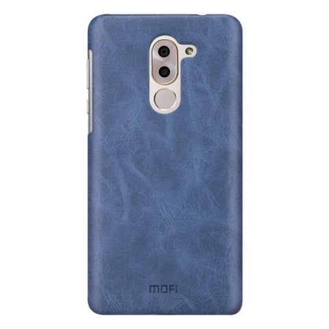 MOFI Huawei Honor 6X Crazy Horse Texture Leather Surface PC Protective Case Back Cover (Dark Blue)