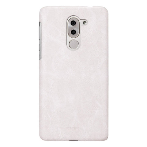 MOFI Huawei Honor 6X Crazy Horse Texture Leather Surface PC Protective Case Back Cover (White)