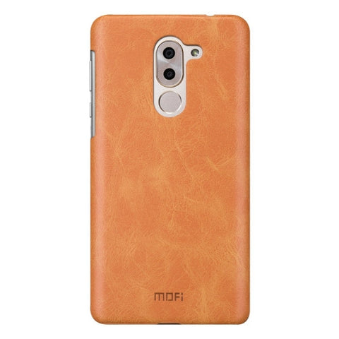 MOFI Huawei Honor 6X Crazy Horse Texture Leather Surface PC Protective Case Back Cover (Brown)