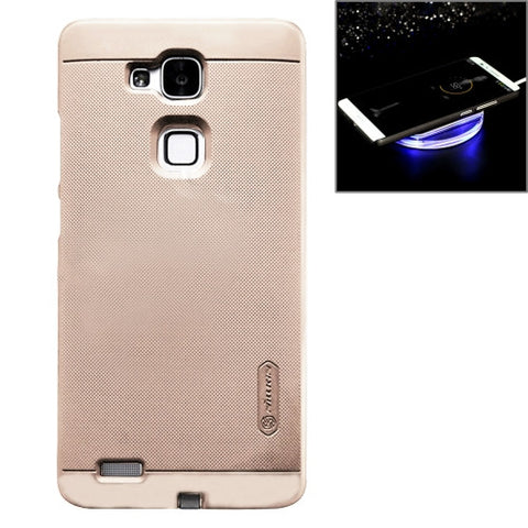 NILLKIN 2 in 1 Magic Case Huawei Mate 7 Anti-slip PC Protective Case with QI Standard Wireless Charging Receiver(Gold)