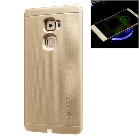 NILLKIN 2 in 1 Magic Case Huawei Mate S Anti-slip PC Protective Case with QI Standard Wireless Charging Receiver(Gold)