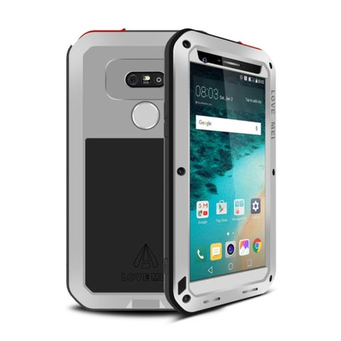 LOVE MEI for LG G5 Professional and Powerful Dustproof Shockproof Anti-slip Metal Protective Case(Silver)