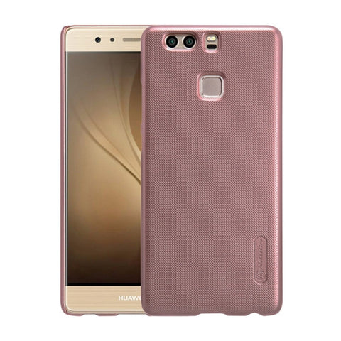 NILLKIN Frosted Shield Huawei P9 Concave-convex Texture PC Protective Case Back Cover(Rose Gold)