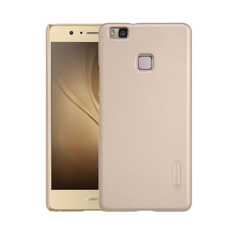 NILLKIN Frosted Shield Huawei P9 Lite Concave-convex Texture PC Protective Case Back Cover(Gold)