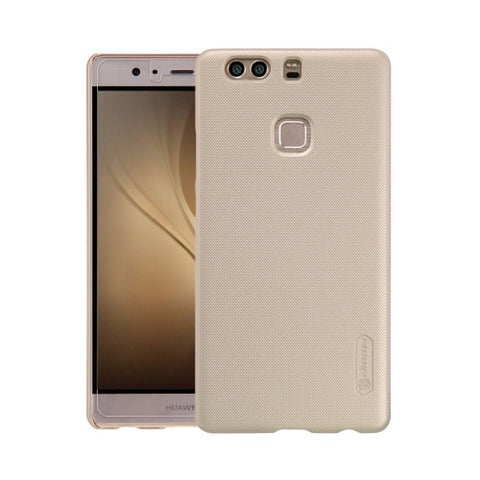 NILLKIN Frosted Shield Huawei P9 Plus Concave-convex Texture PC Protective Case Back Cover(Gold)