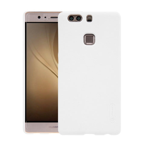 NILLKIN Frosted Shield Huawei P9 Plus Concave-convex Texture PC Protective Case Back Cover(White)