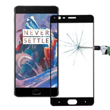 OnePlus Three 0.26mm 9H Surface Hardness Explosion-proof Colorized Silk-screen Tempered Glass Full Screen Film(Black)
