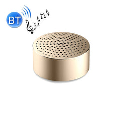 Original Xiaomi Pocket Bluetooth Speakers Portable Wireless Mini Stereo Metal Body Subwoofer Audio Receiver with Built-in Mic & Lanyard Hole Size: 52 * 52 * 25 mm(Gold)