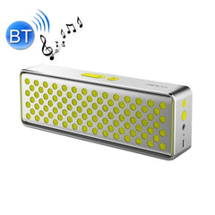 ROCK Mubox Bluetooth Speaker Portable Wireless Stereo Subwoofer Audio Receiver with Built-in Microphone Support Hands-free Calls 2 Devices Connecting Simultaneously Size: 182 * 60 * 32 mm(Yellow)