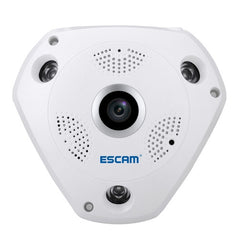 ESCAM Shark QP180 960P 360 Degrees Fisheye Lens 1.3MP WiFi IP Camera Support Motion Detection / Night Vision IR Distance: 10m