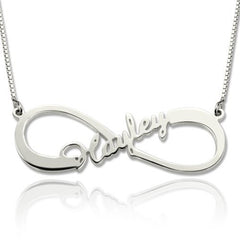 Personalized Name Necklace Infinity with a Name Gold or Silver - Yellow Gold