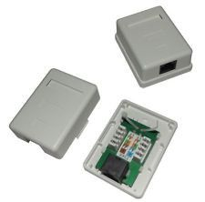 Rj45 Wall Box Single New