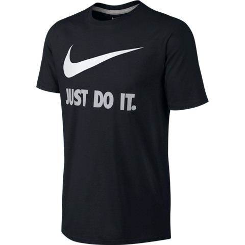 Nike T-Shirt Just Do It swoosh black and white - Medium