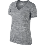 Nike Legend V neck ladies T-Shirt black and grey - Small - Zasttra.com