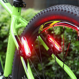 Goofy X7505 USB Rechargeable 5 Modes Red and Blue Light COB LED Bike Taillight