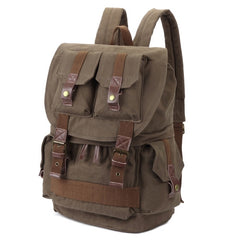 Multifunction Canvas Backpack Shoulders Bag Cameras Bags Outdoor Sports Bag with Interior Lining & Rain Cover Size: 45x33x20cm(Army Green)