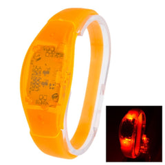 Fashion Sound Activated LED Silicone Bracelet(Orange)