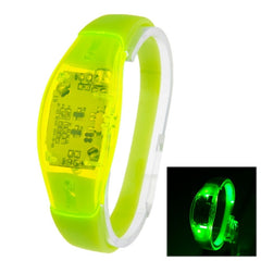 Fashion Sound Activated LED Silicone Bracelet(Green)