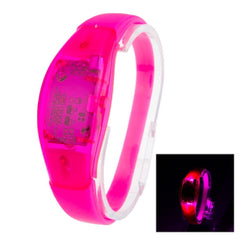 Fashion Sound Activated LED Silicone Bracelet(Magenta)