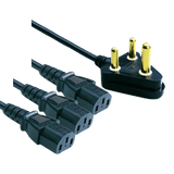 Cable Normal 3Pin Plug To 3 X Iec 3.8M - Zasttra.com