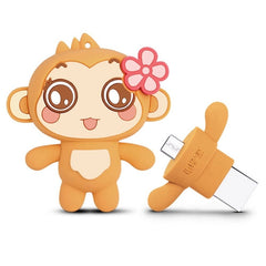 Teclast 64GB Lovely CICI Shape Silicone Body USB 3.0 + Micro USB Flash Disk Drive for PC / Notebook / Laptop & Tablet & Mobile Phones with OTG Functions