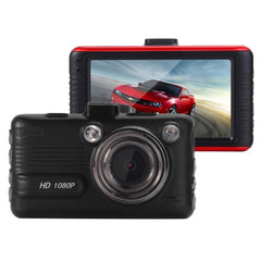 I8S Full HD 1080P Car WiFi DVR Driving Recorder 3.0 inch Screen Display 170 Degrees Wide Angle Viewing Lens Support G-Sensor & File Locking & Parking Guard & Motion Detection Functions Maximum 32GB TF Card