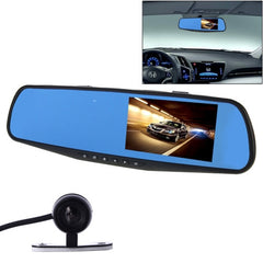 G20 HD 1080P 4.3 inch Screen Display Vehicle DVR with Reversing Camera Generalplus 2248 Programs 170 Degree Wide Angle Viewing Support Loop Recording / Motion Detection Function