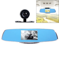 G835 HD 1080P 4.3 inch Screen Display Rearview Mirror Vehicle DVR Generalplus 2248 2 Cameras 170 Degree Wide Angle Viewing Support HDR Recording / Motion Detection / Night Vision Function