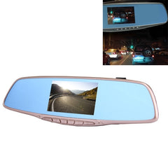 Middle Screen Display Rearview Mirror Vehicle DVR Allwinner Programs 2 x Cameras 1080P FHD 140 Degree Wide Angle Viewing Support GPS Port / Motion Detection / Night Vision / Cyclic Recording / TF Card / G-Sensor