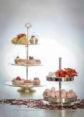 Petit Four Stand - 2 Tier - Silver plated