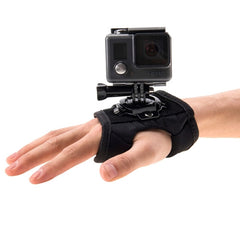 PULUZ 360 Degree Rotation Glove Style Palm Strap Mount Band for GoPro HERO5 /4 Session /4 /3+ /3 /2 /1 Xiaomi Yi Sport Camera
