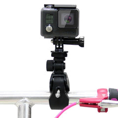 PULUZ Motorcycle Bicycle Handlebar Holder with Tripod Mount & Screw for GoPro HERO5 /4 /3+ /3 /2 /1(Black)