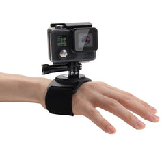 PULUZ 3 in 1 Hand Wrist Arm Leg Straps 360-degree Rotation Mount  for GoPro HERO5 /4 /3+ /3 /2 /1(Black)