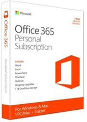 Microsoft Office 365 Personal Edition - Media less - 1 Year subscription License for 1 PC or Mac
