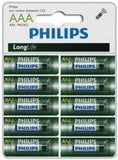 Philips LongLife Battery 10 X R03L10S AAA Zinc Carbon