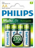 Philips Rechargeables accu Battery 4 X R6B4A270 AA