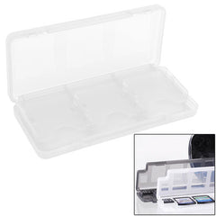 6 in 1 High Quality HEPD Material Game Card Box for Nintendo 3DS / 3DS LL / XL(White)