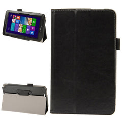 Crazy Horse Texture Leather Case with Holder for ASUS Vivo Tab Note 8 M80TA(Black)