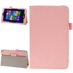 Crazy Horse Texture Leather Case with Holder for ASUS Vivo Tab Note 8 M80TA(Pink)